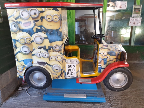Click for more details about... Minions Coin Operator Ride on Car